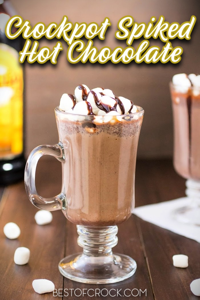 Crockpot spiked hot chocolate recipes help make classic hot chocolate even more enjoyable for adults and more fun to enjoy during holiday gatherings. Spiked peppermint Hot Chocolate Crockpot   Spiked White Hot Chocolate Crockpot   Spiked Hot Chocolate Crockpot Christmas Parties   Hot Chocolate Slow Cooker Cocktail Recipes   Spiked Mexican Hot Chocolate Crockpot #crockpot #hotchocolate via @bestofcrock