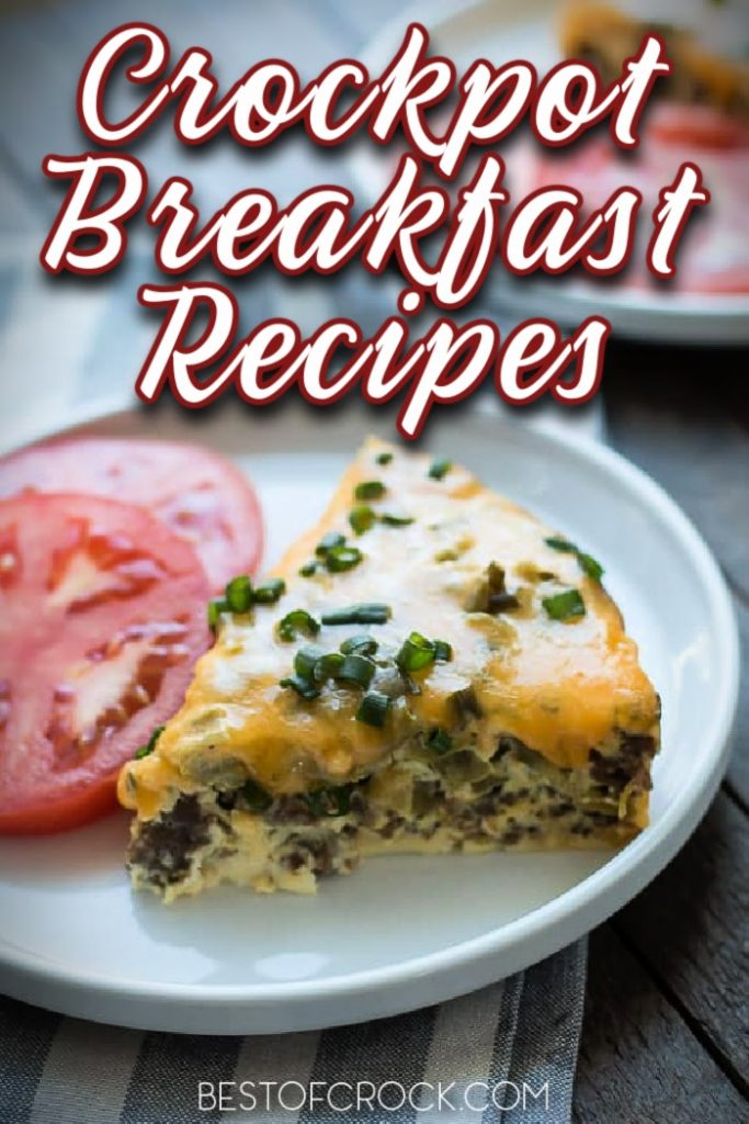 Crockpot breakfast recipes make enjoying a hearty breakfast on a weekday an actual possibility for us all, even if we don't have time. Breakfast Casserole Overnight | Crockpot Breakfast Potatoes | Crockpot Breakfast Casserole Hash Browns | Slow Cooker Breakfast Casserole Sausage Crockpot | Breakfast Ideas for Busy People | Overnight Crockpot Recipes #crockpot #breakfast