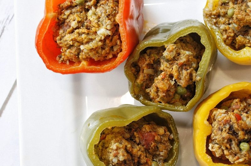 Crockpot Recipes with Ground Beef Stuffed Peppers on a Plate