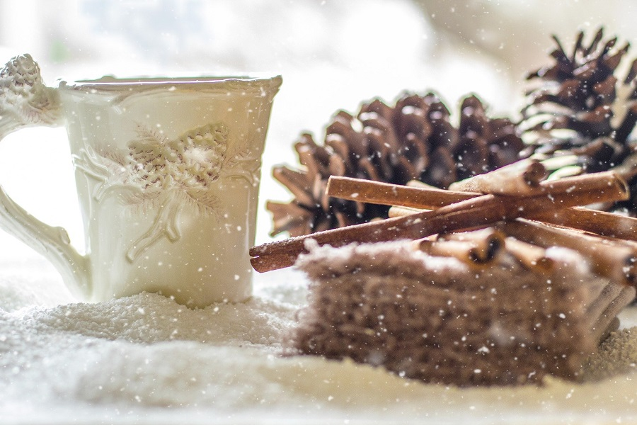 Crockpot Spiked Hot Chocolate Recipes a Cup of Hot Chocolate with Cinnamon Sticks and Pine Cones Next to it