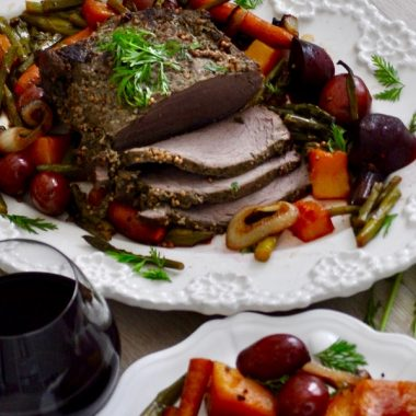 Crockpot Beef Roast Recipes a Trimmed Beef Roast Sitting on a Serving Dish