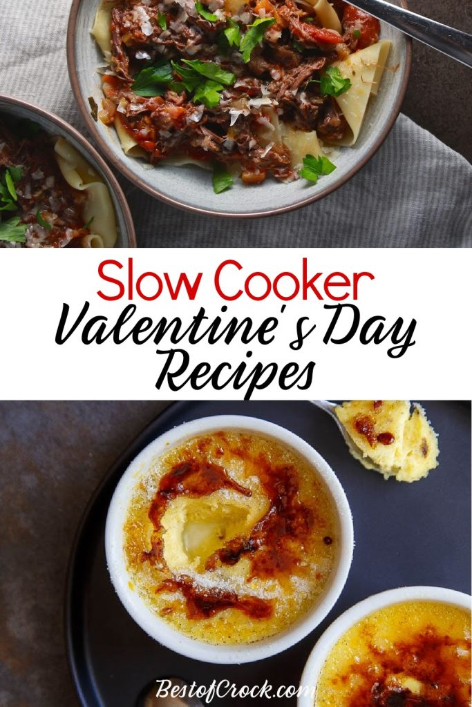 Crockpot Valentine's Day recipes make for an easy and delicious romantic dinner for two by candlelight. Crockpot Valentines Dinner | Crockpot Valentines Dessert | Slow Cooker Valentines Candy | Valentines Day Crockpot Dinner | Romantic Crockpot Recipes | Date Night Crockpot Recipes | Dinner Date Slow Cooker Ideas #valentinesday #crockpot