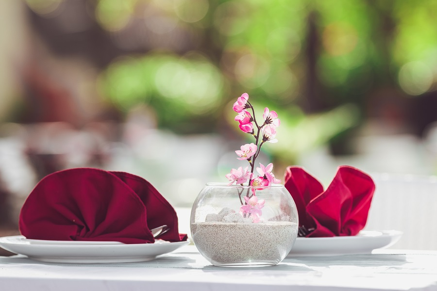 Instant Pot Valentine's Day Recipes Romantic Table Setting with Folded Napkins