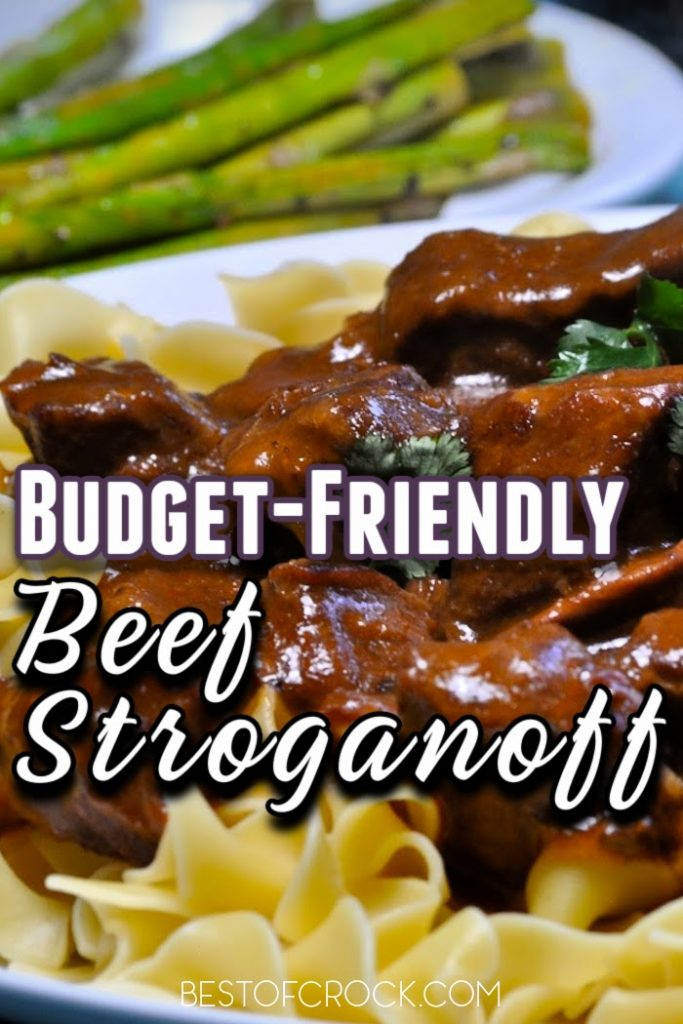Budget friendly beef stroganoff is an easy crockpot recipe that is not only easy to make but easy on the family budget. Budget Friendly Crockpot Meals | Crockpot Meals Families | Easy Budget Friendly Crockpot Meals | Crockpot Recipes on a Budget | Crockpot Recipes with Beef | Crockpot Pasta Recipes #crockpot #budget