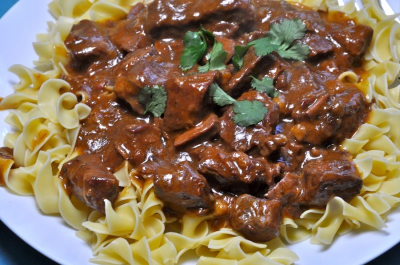 Budget Friendly Beef Stroganoff on a Plate