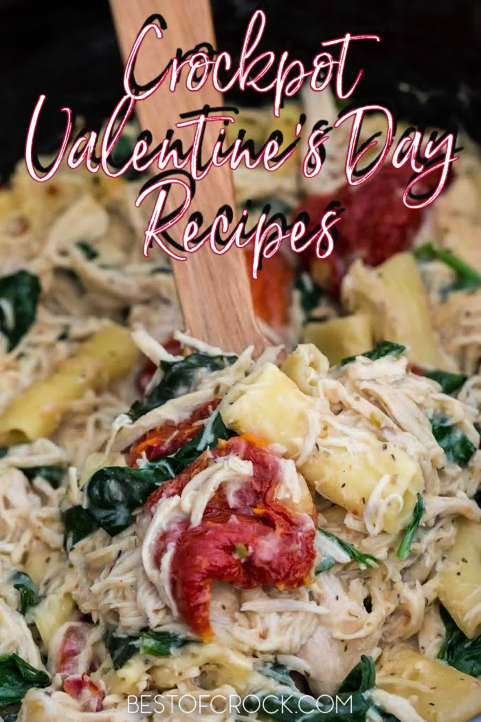 Crockpot Valentine's Day recipes make for an easy and delicious romantic dinner for two by candlelight. Crockpot Valentines Dinner | Crockpot Valentines Dessert | Slow Cooker Valentines Candy | Valentines Day Crockpot Dinner | Romantic Crockpot Recipes | Date Night Crockpot Recipes | Dinner Date Slow Cooker Ideas #valentinesday #crockpot via @bestofcrock