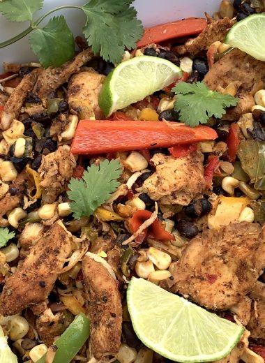 Chicken Fajitas Slow Cooker Recipes Chicken Fajitas on a Platter