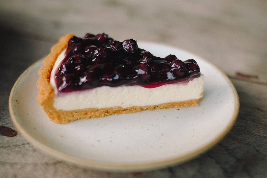 Instant Pot Desserts for a Crowd A Slice of Cheesecake on a Plate