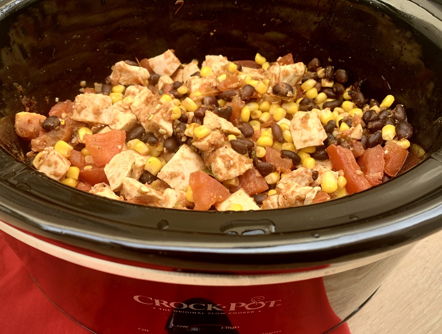 Slow Cooker Salsa Chicken for Tacos
