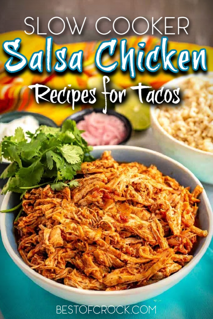 Slow cooker salsa chicken is perfect for crockpot chicken taco recipes, or you can serve it with a side of rice and beans. It is an easy and versatile slow cooker dinner recipe. Cream Cheese Salsa Chicken | Salsa Chicken and Rice | Crockpot Salsa Chicken Tacos | Crockpot Salsa Chicken Frozen | Slow Cooker Salsa Chicken Healthy | Slow Cooker Recipes with Chicken | Crockpot Chicken Recipes #slowcooker #chicken via @bestofcrock