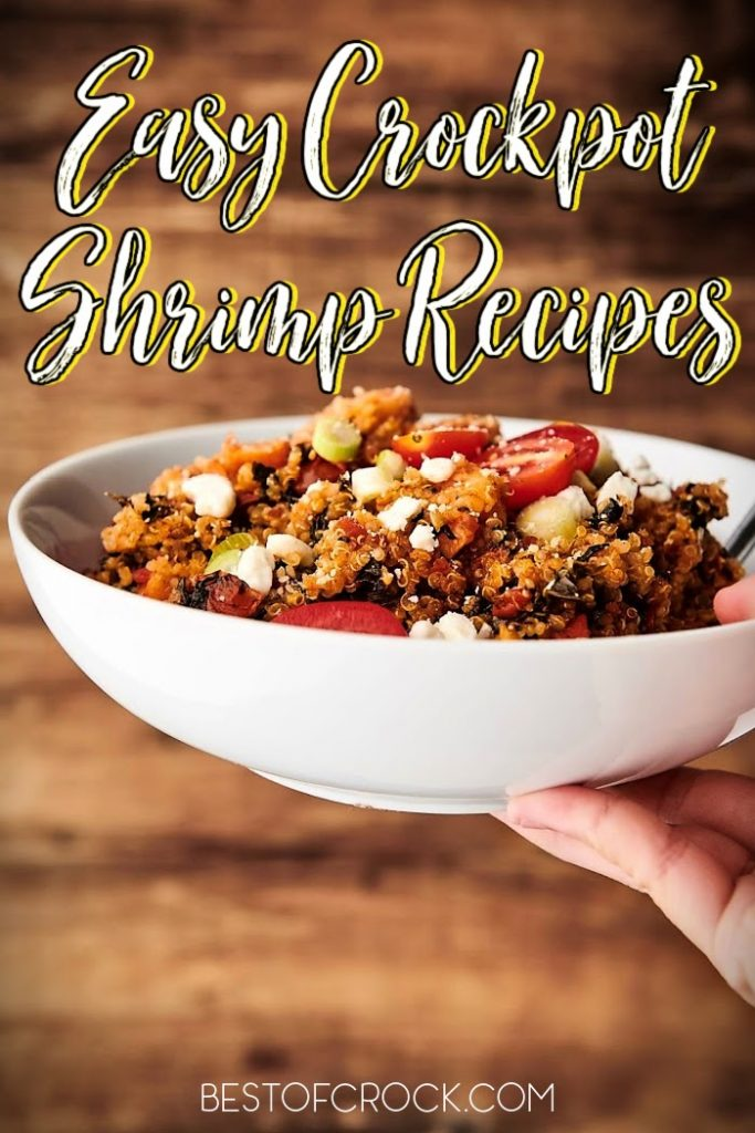 Crockpot shrimp recipes prove that shrimp is the real chicken of the sea; they may even the best crockpot seafood recipes, too! Crockpot Seafood Recipes   Slow Cooker Shrimp and Grits   Tips for Cooking Shrimp   Shrimp Dinner Recipes   Seafood Recipes Slow Cooker #seafood #crockpot