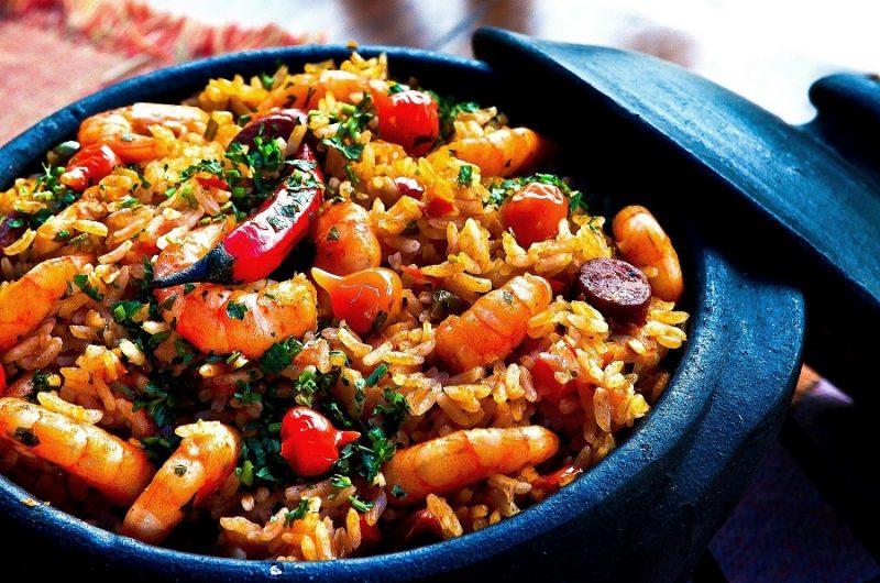 Crockpot Shrimp Recipes Close Up of Shrimp and Rice