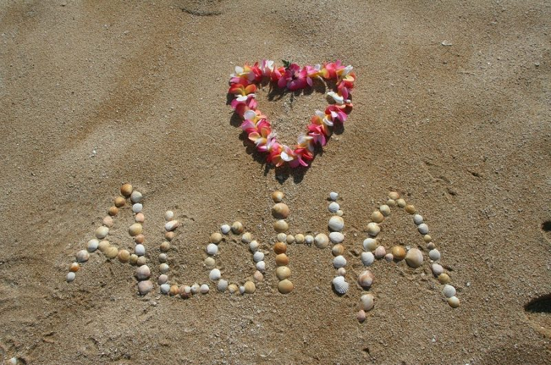 Crockpot Hawaiian BBQ Recipes A Message in The Sand with a Heart Made of Flowers That Reads Aloha
