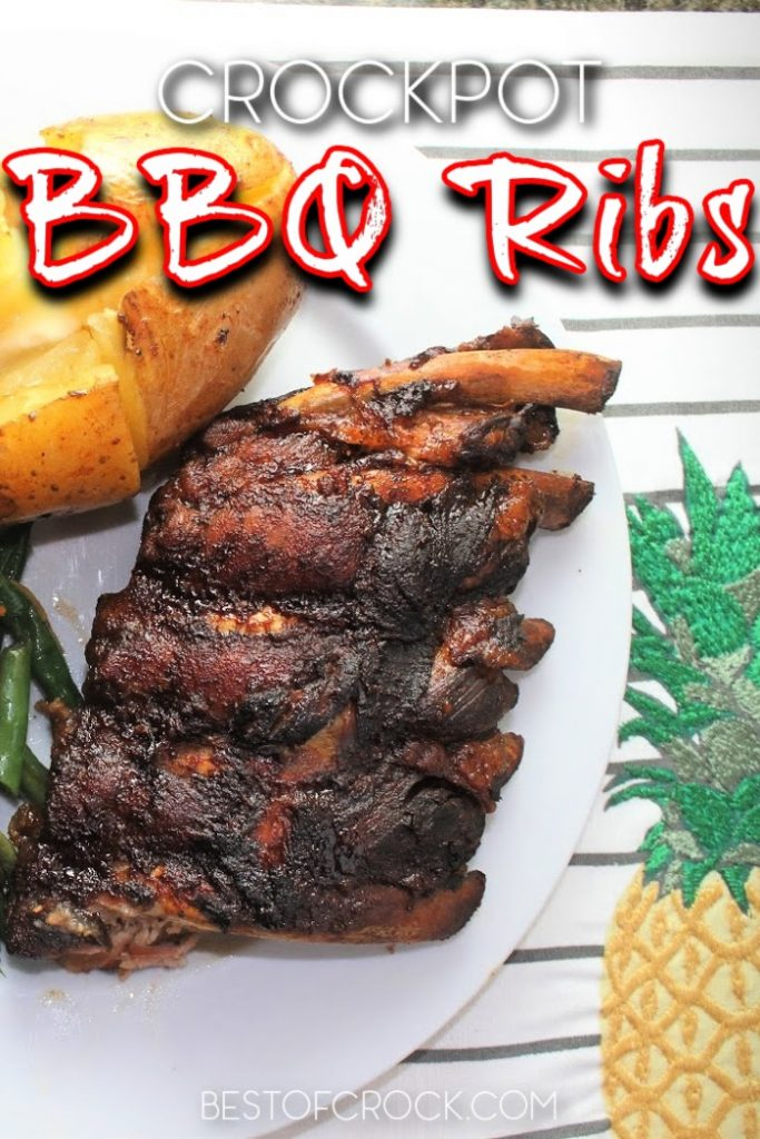 When you know how to make crockpot BBQ ribs, they simmer for hours resulting in tender flavorful ribs that can be paired with any side dishes. BBQ Ribs Recipe   Slow Cooker Ribs Recipe   Crockpot Ribs Recipe   Crockpot Dinner Recipes   Crockpot Recipes with Pork   Easy Crockpot Recipes #crockpot #BBQ