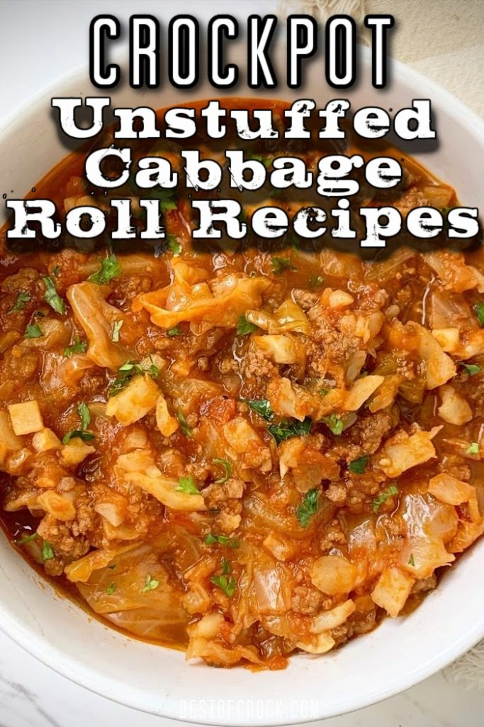 Crockpot unstuffed cabbage rolls make for a flavorful recipe with a lot of diversity in how it is made. Unstuffed Cabbage Rolls with Rice | Unstuffed Cabbage Rolls Crockpot | Cabbage Soup Recipes | Vegetarian Crockpot Recipes | Easy Dinner Recipes  #dinnerrecipes #crockpot