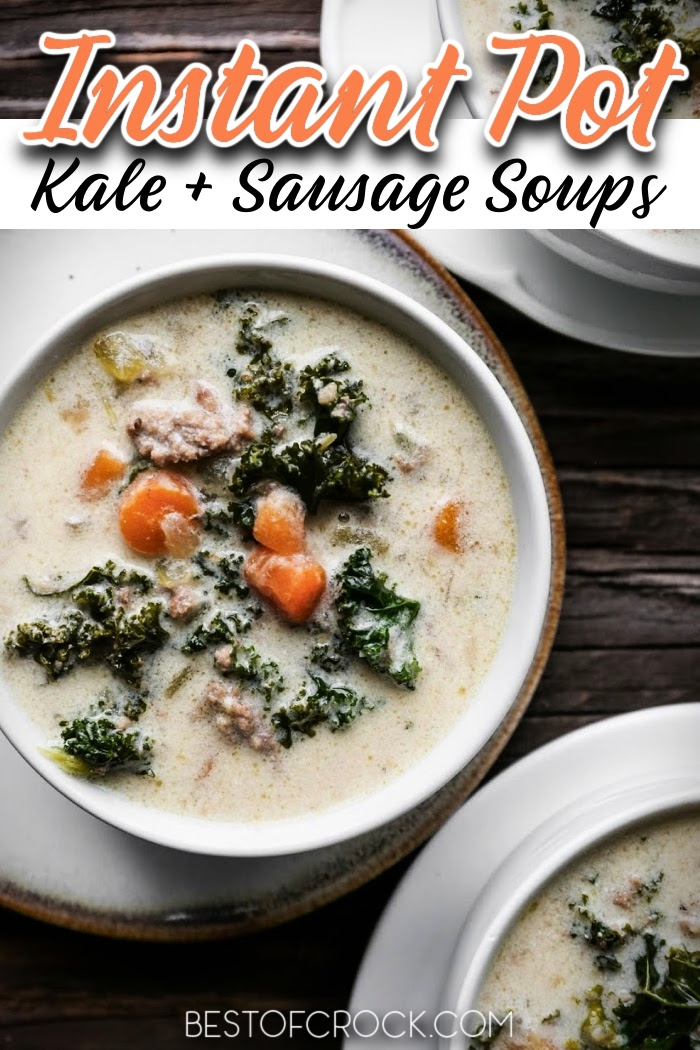 Try these delicious Instant Pot kale soup with sausage recipes for a quick and easy meal planning recipe. Pressure Cooker Kale Soup Recipes   Instant Pot Sausage   Instant Pot Kale Recipes   Instant Pot Dinner Recipes   Instant Pot Soup Recipes #instantpot #souprecipes via @bestofcrock