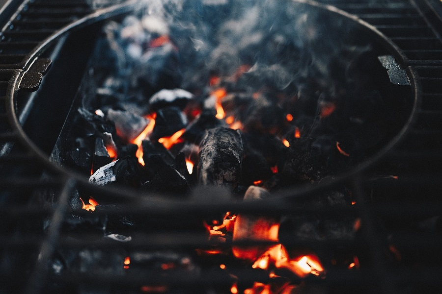 Instant Pot Outdoor BBQ Recipes Coals Heating Up in a Grill
