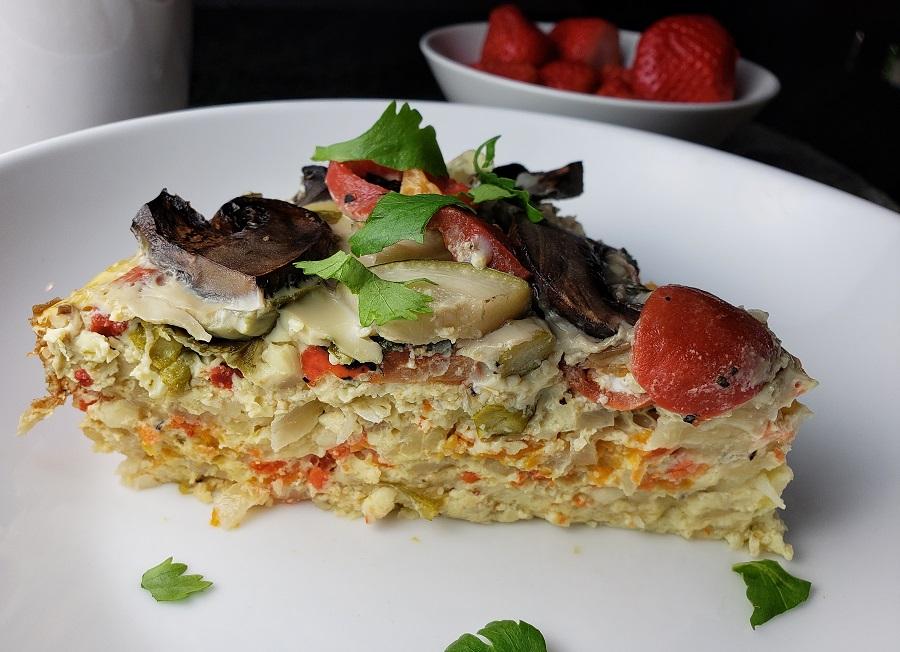 Slow Cooker Breakfast Casserole Recipes Close Up of a Breakfast Casserole
