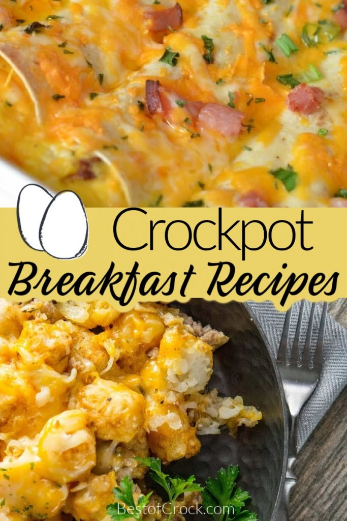 Crockpot breakfast recipes make having a delicious breakfast easier on busy mornings.  These recipes are great for kids and adults. Crockpot Breakfast Casserole Recipes | Crockpot Breakfast Casserole Overnight | Overnight Crockpot Recipes | Breakfast Potatoes Slow Cooker | Slow Cooker Breakfast Casserole Hash Browns | Easy Breakfast Recipes #crockpotrecipes #breakfastrecipes