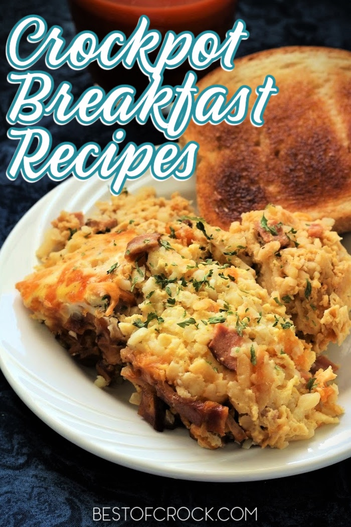 Crockpot breakfast recipes make having a delicious breakfast easier on busy mornings. These recipes are great for kids and adults. Crockpot Breakfast Casserole Recipes | Crockpot Breakfast Casserole Overnight | Overnight Crockpot Recipes | Breakfast Potatoes Slow Cooker | Slow Cooker Breakfast Casserole Hash Browns | Easy Breakfast Recipes #crockpotrecipes #breakfastrecipes via @bestofcrock