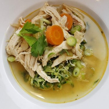 Instant Pot Soup Recipes with Chicken Overhead Close Up of a Bowl of Soup