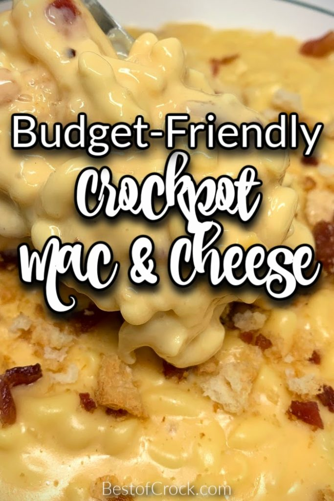 It is easier than you may think to make a budget friendly slow cooker macaroni and cheese recipe with actual real cheese. Budget Friendly Crockpot Recipes | Cheap Slow Cooker Recipes | Crockpot Macaroni and Cheese Recipe | Slow Cooker Pasta Recipe | Homemade Mac and Cheese | Mac and Cheese from Scratch | Fresh Cheese Macaroni #budgetmeals #crockpotrecipes