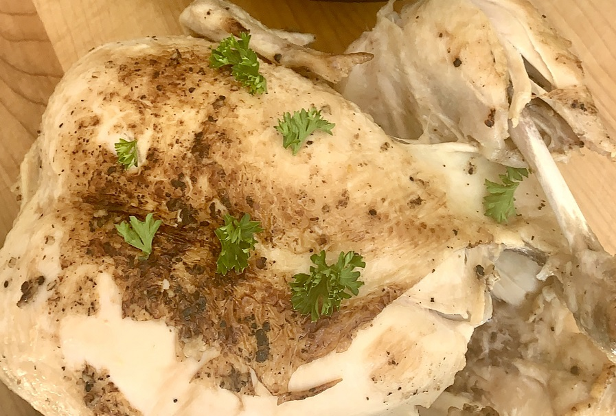 Beginner Instant Pot Recipes with Chicken Close Up of a Whole Chicken Cooked