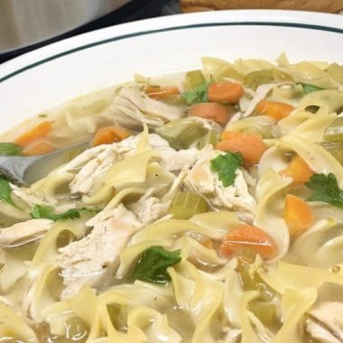 Beginner Instant Pot Recipes with Chicken Close Up of a Bowl of Chicken Soup