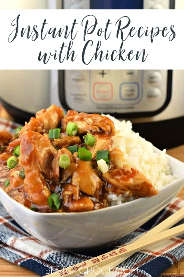 The best place to start with your new Instant Pot is with beginner Instant Pot recipes with chicken. They are perfect for quick and easy dinner recipes. Instant Pot One Pot Meals | Instant Pot Recipes Chicken | Easy Instant Pot Recipes | Instant Pot Recipes for Beginners | Easy Instant Pot Recipes | Chicken Dinner Ideas #chickenrecipes #instantpotrecipes via @bestofcrock