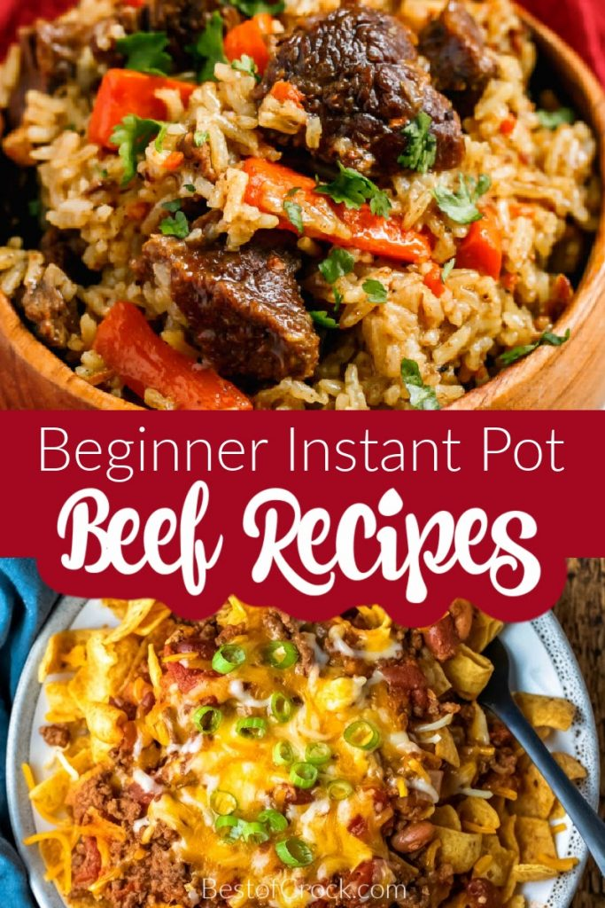 Beginner Instant Pot recipes with beef are great recipes that aren't just for beginners but for anyone who wants an easy Instant Pot dinner. Instant Pot Ground Beef Recipes | Instant Pot Beef Roast Recipes | Cubed Beef Instant Pot Recipes | Beef Stew Recipes Instant Pot | Pressure Cooker Beef Recipes | Beef Stroganoff Recipes Instant Pot | Beef Dinner Recipes | Easy Beef Recipes | Healthy Recipes with Beef