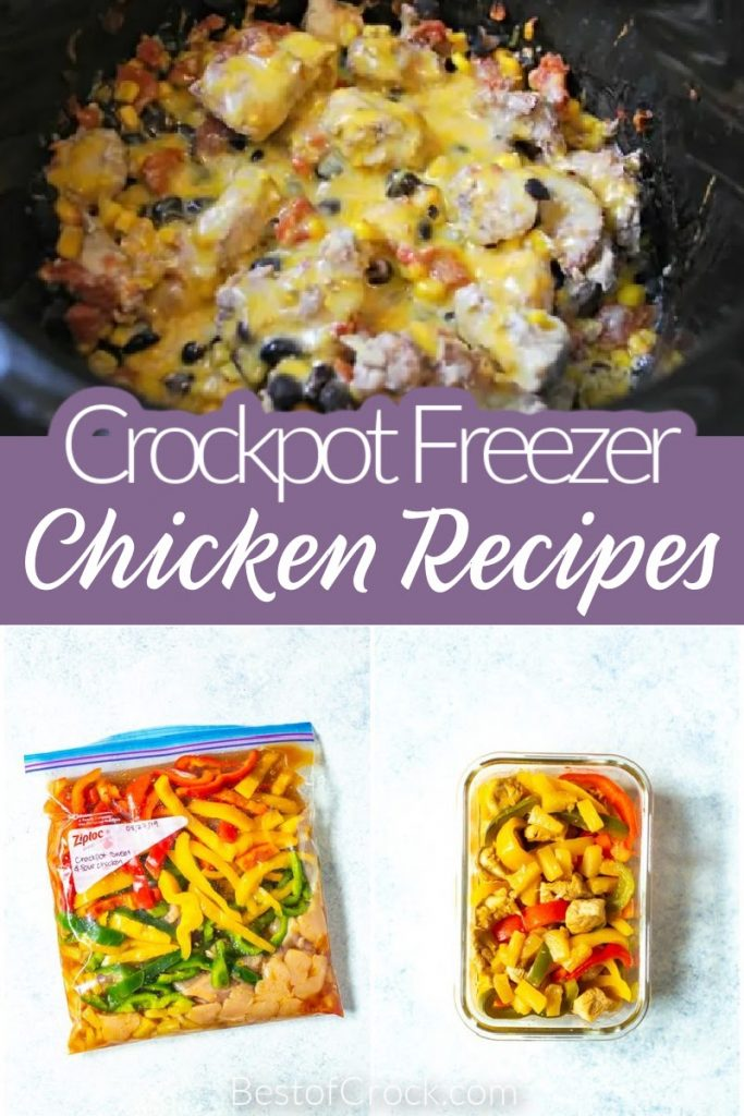 Healthy crockpot freezer meals with chicken make eating healthy so much easier and more delicious than ever before. Crockpot Recipes with Chicken | Meal Prep Chicken Recipes | Crockpot Meal Prep Recipes | Healthy Crockpot Recipes with Chicken | Crockpot Freezer Meals | Healthy Chicken Recipes #freezermeals #crockpotrecipes