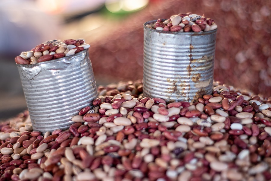 Instant Pot Tips for Cooking Beans Two Cans of Beans On Top of a Pile of Beans