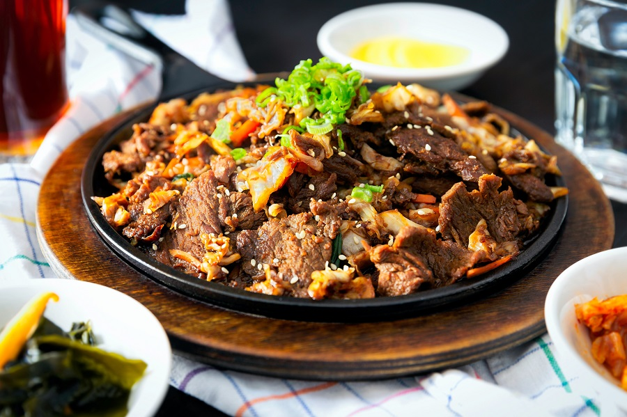 Healthy Crockpot Freezer Meals with Beef Close Up of a Beef and Rice Plate