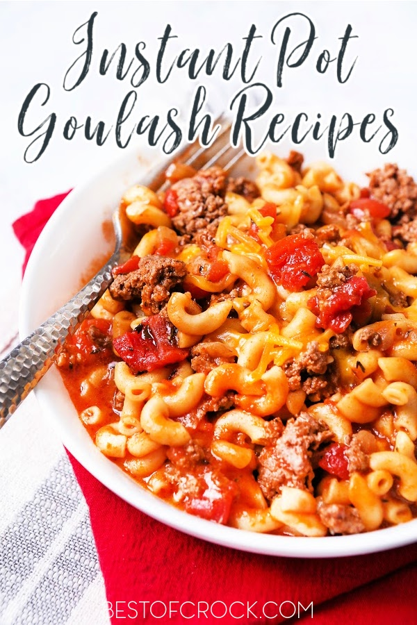 It is easier than you may think to make Instant Pot goulash recipes for family dinners or even as date night dinners that will surely impress. Easy Ground Beef Recipes   Pressure Cooker Goulash   Ground Beef Dinner Recipes   Ground Beef Pasta Recipe   Goulash Recipes Easy Ground Beef #instantpot #recipe via @bestofcrock