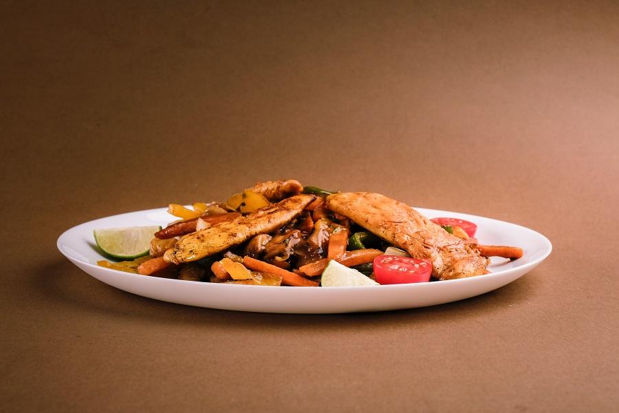 Healthy Crockpot Freezer Meals with Chicken Fajitas on a Plate