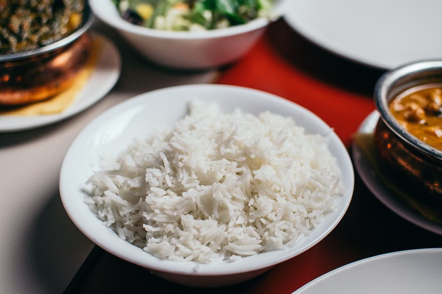 Instant Pot Tips for Cooking Rice Close Up of a Bowl of White Rice