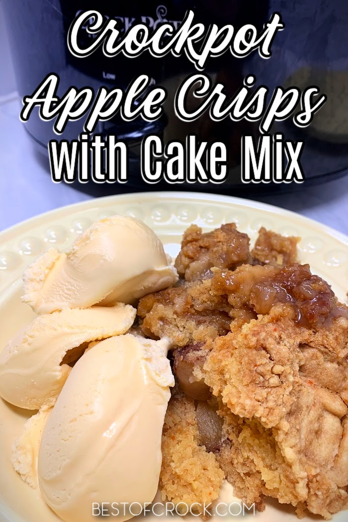 Making an apple crisp is easier when you use this easy crockpot apple crisp with cake mix recipe that is filled with flavor. Slow Cooker Apple Crisp Recipe   Crockpot Dessert Recipe   Slow Cooker Dessert Recipe   Crockpot Recipes with Apples   Apple Crisp without Oats   Cake Mix Apple Crisp #dessert #crockpot via @bestofcrock