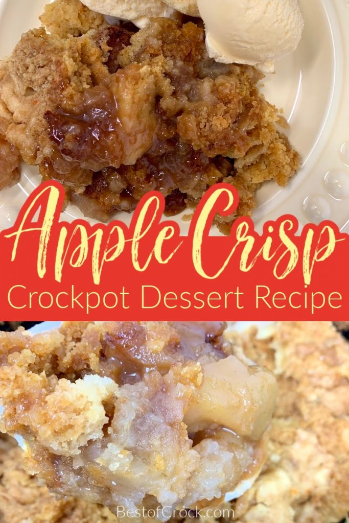 Making an apple crisp is easier when you use this easy crockpot apple crisp with cake mix recipe that is filled with flavor. Slow Cooker Apple Crisp Recipe   Crockpot Dessert Recipe   Slow Cooker Dessert Recipe   Crockpot Recipes with Apples   Apple Crisp without Oats   Cake Mix Apple Crisp #dessert #crockpot