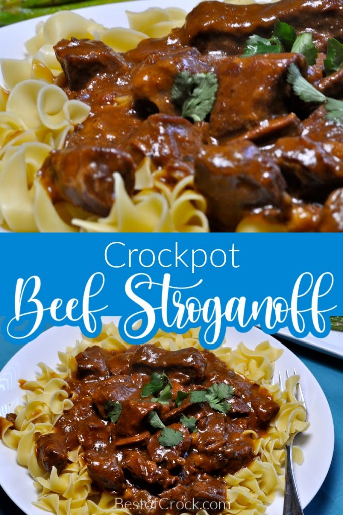Everyone will love this homemade slow cooker beef stroganoff recipe! The French Onion soup adds to the savory flavors, making this stroganoff a great family dinner recipe. Creamy Beef Stroganoff Slow Cooker | Crockpot Beef Recipes | Crockpot Pasta Recipes | Russian Recipes for Dinner | How to Make Beef Stroganoff | Beef Recipes with Mushrooms | Crockpot Pasta Recipes | Slow Cooker Pasta Recipes #slowcooker #dinner