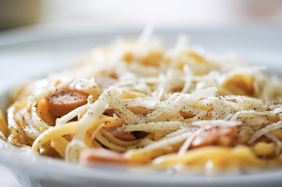 Instant Pot Pasta Recipes Close Up of a Plate of Pasta with Sausage