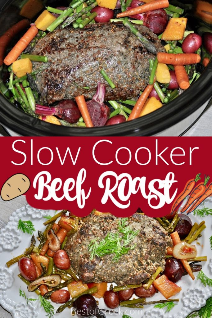 Slow cooker beef roast with potatoes and carrots is a recipe that has been around for centuries and is still a well-loved and easy family dinner. Sunday Dinner Recipes | Beef Roast in Crockpot | Crockpot Recipes with Beef | Slow Cooker Recipes with Veggies | Roast Beef Recipe | Crockpot Family Dinner #crockpot #beef