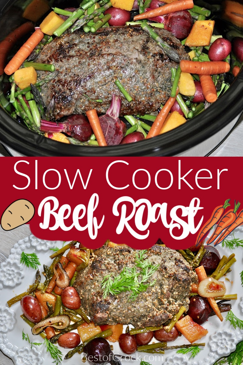 Slow cooker beef roast with potatoes and carrots is a recipe that has been around for centuries and is still a well-loved and easy family dinner. Sunday Dinner Recipes | Beef Roast in Crockpot | Crockpot Recipes with Beef | Slow Cooker Recipes with Veggies | Roast Beef Recipe | Crockpot Family Dinner #crockpot #beef via @bestofcrock
