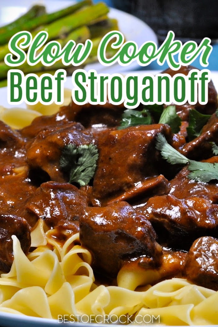 Everyone will love this homemade slow cooker beef stroganoff recipe! The French Onion soup adds to the savory flavors, making this stroganoff a great family dinner recipe. Creamy Beef Stroganoff Slow Cooker | Crockpot Beef Recipes | Crockpot Pasta Recipes | Russian Recipes for Dinner | How to Make Beef Stroganoff | Beef Recipes with Mushrooms | Crockpot Pasta Recipes | Slow Cooker Pasta Recipes #slowcooker #dinner via @bestofcrock