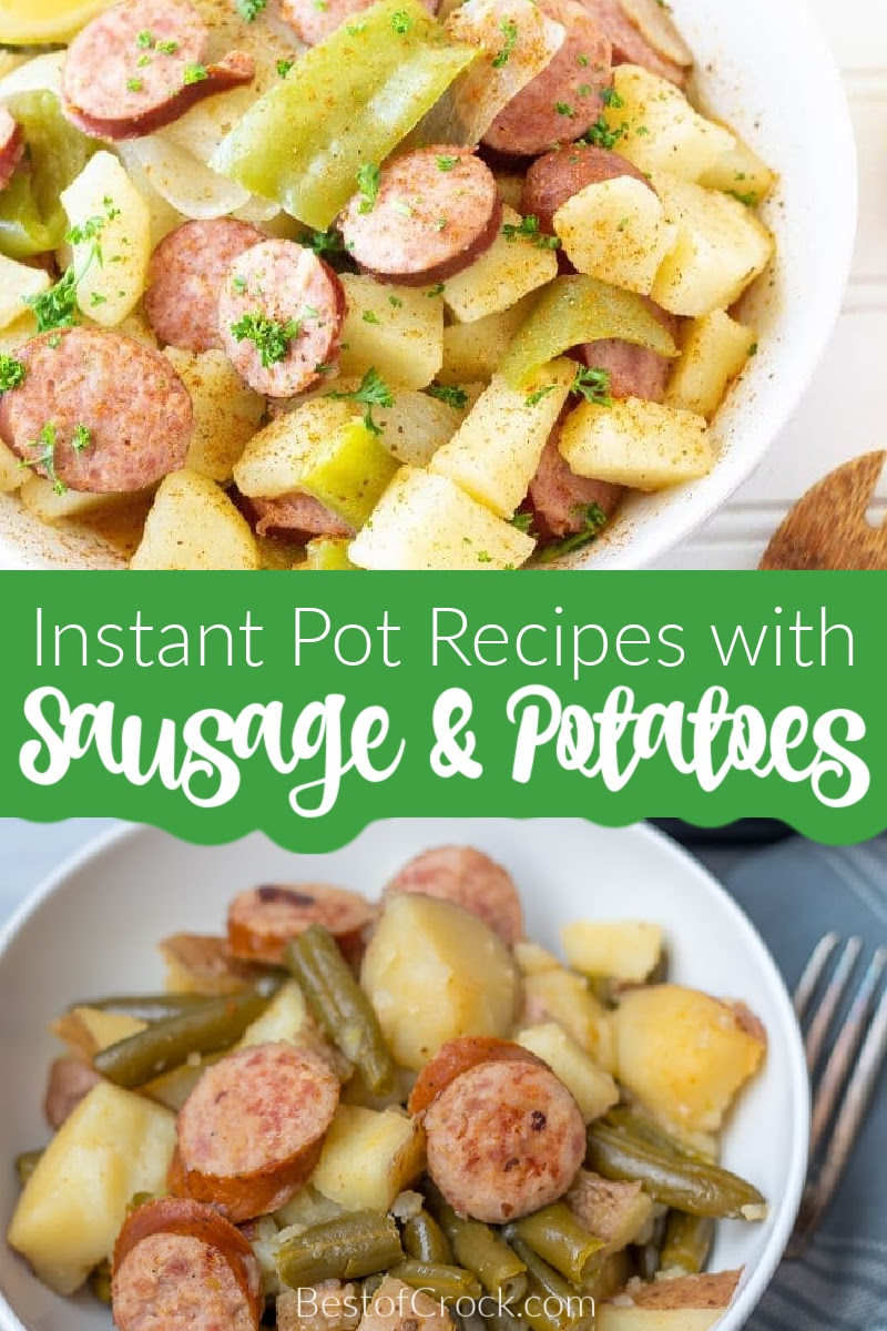You can make and enjoy these Instant Pot sausage and potatoes recipes which are easy Instant Pot recipes for a quick delicious dish. Creamy Sausage and Potatoes Instant Pot | Instant Pot Kielbasa Potatoes and Green Beans | Instant Pot Smoked Sausage Potatoes and Carrots | Instant Pot Sausage and Rice | How to Cook Smoked Sausage in Instant Pot | Instant Pot Recipes with Potatoes | Pressure Cooker Recipes with Sausage | Instant Pot Dinner Recipes #instantpotrecipes #dinnerrecipes via @bestofcrock