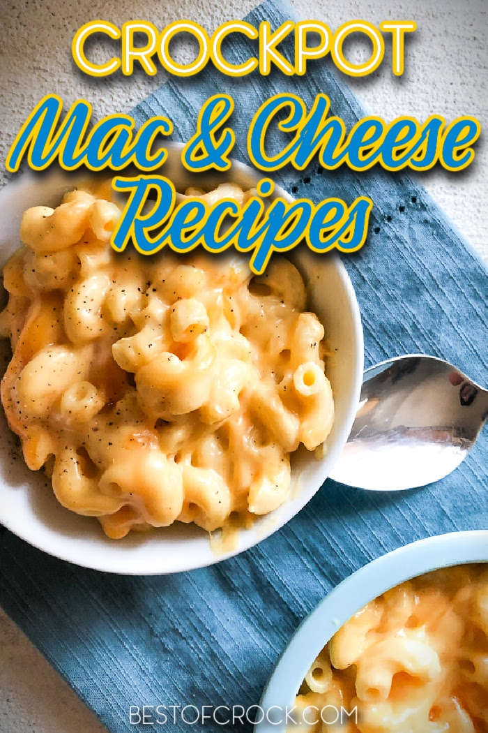 The best Crock Pot mac and cheese recipes are easy to make and any serious lover of crock pot recipes is sure to enjoy them. Crockpot Mac and Cheese Recipes   Easy Dinner Recipes   Make Ahead Lunch Recipes   Slow Cooker Macaroni and Cheese   Slow Cooker Dinner Recipes   Slow Cooker Side Dish Recipes   Recipes for Kids   Crockpot Pasta Recipes   Pasta Recipes Slow Cooker #crockpotrecipes #macandcheese via @bestofcrock