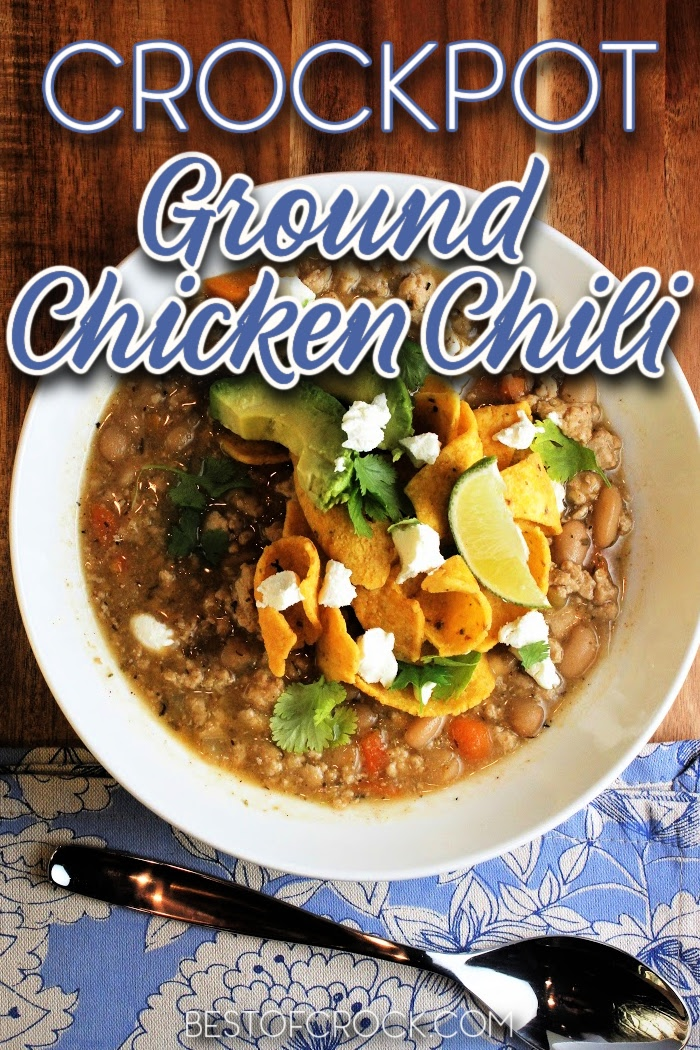 This crockpot ground chicken chili recipe is easy to make and low in fat, making it perfect for a healthy diet. Friends and family are sure to enjoy this homemade chili recipe, too! Slow Cooker Chicken Chili   Crockpot White Chicken Chili   Homemade Chili Recipe   Homemade Chili with Chicken   How to Make Chili in a Crockpot   Crockpot Dinner Recipes   Slow Cooker Comfort Food Recipes   Crockpot Recipes with Chicken #crockpot #chili via @bestofcrock