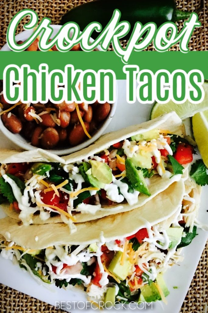 Homemade tacos are easy dinner recipes that you can make any night of the week, especially with this crockpot chicken tacos recipe. Shredded Chicken Tacos   Authentic Chicken Tacos   Mexican Chicken Tacos   Crockpot Shredded Chicken   Slow Cooker Tacos with Chicken   Slow Cooker Dinner Recipes   Crockpot Dinner Recipes Chicken   Crockpot Mexican Recipes   Slow Cooker Mexican Recipes #chickenrecipes #crockpotrecipes