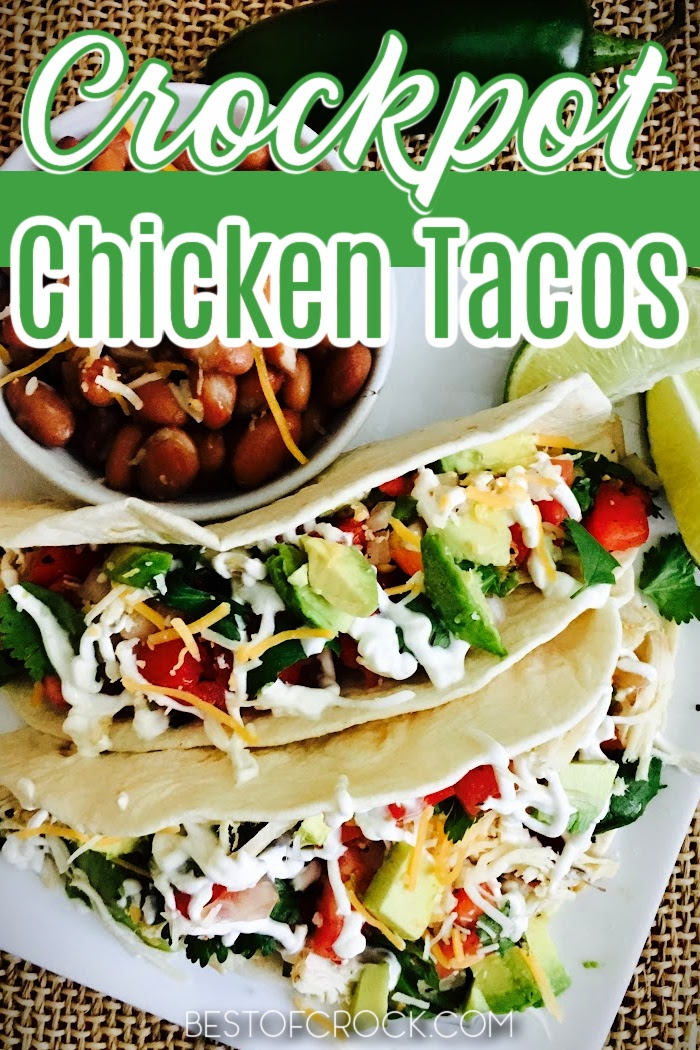 Homemade tacos are easy dinner recipes that you can make any night of the week, especially with this crockpot chicken tacos recipe. Shredded Chicken Tacos   Authentic Chicken Tacos   Mexican Chicken Tacos   Crockpot Shredded Chicken   Slow Cooker Tacos with Chicken   Slow Cooker Dinner Recipes   Crockpot Dinner Recipes Chicken   Crockpot Mexican Recipes   Slow Cooker Mexican Recipes #chickenrecipes #crockpotrecipes via @bestofcrock