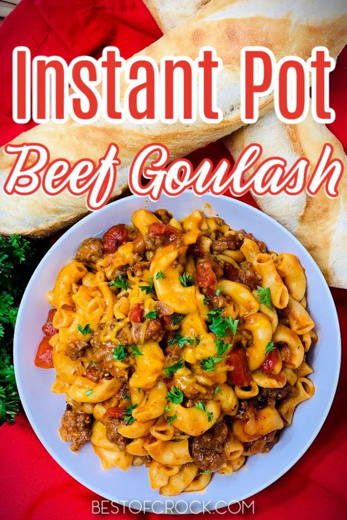 Our Instant Pot goulash recipe with beef takes a family favorite recipe and makes it easier to make while bringing out rich and delicious flavors. Instant Pot Recipes with Beef   Instant Pot Ground Beef Recipes   Cheesy Instant Pot Recipes   Dinner Recipes for Pressure Cookers   Easy Dinner Recipes   Instant Pot Pasta Recipes   Quick Recipes with Pasta   Instant Pot Recipes with Pasta   Family Dinner Recipes   Weeknight Recipes for Dinner #instantpotrecipes #dinnerrecipes