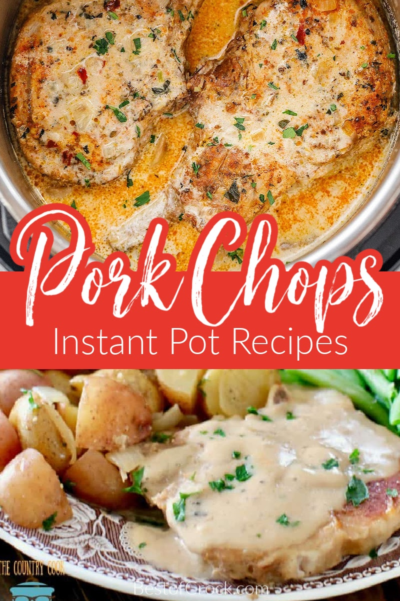 Instant Pot pork chops recipes are easy to make and are perfect for meal planning for an easy family dinner or a dinner for two meals on date night. Instant Pot Pork Recipes | Instant Pot Dinner Recipes | Instant Pot Pork Chops with Mushroom Soup | Instant Pot Pork Chops Bone-In | Instant Pot Pork Chops and Rice | Healthy Instant Pot Pork Chops | Pressure Cooker BBQ Pork Chops | Instant Pot Recipes with Pork | Homemade Pork Chop Recipes #instantpotrecipes #porkchops via @bestofcrock